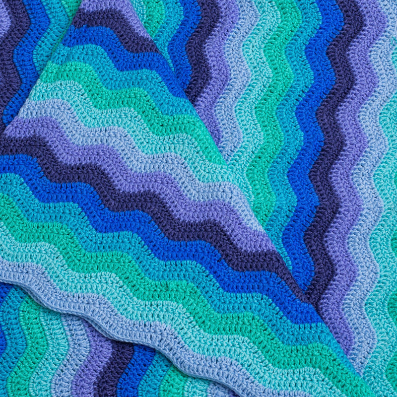 Hand Crochet Blue Baby Blanket Decor Range O.B. Designs