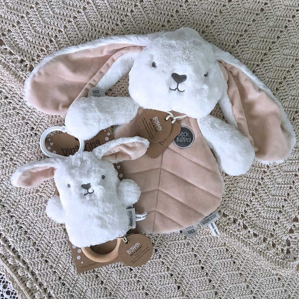 Cream Bunny Baby Gift Set Big Hugs Plush O.B. Designs