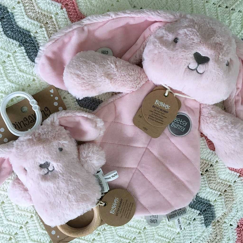 Pink Bunny Baby Gift Set Big Hugs Plush O.B. Designs