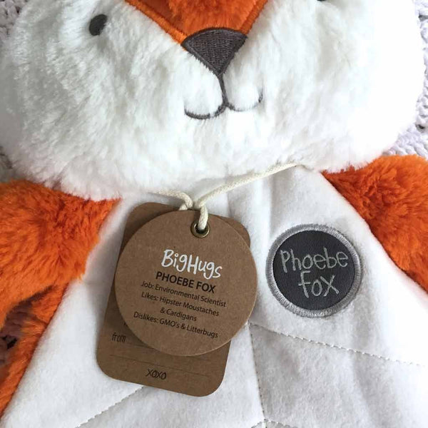 Dingaring & Comforter Set / Phoebe Fox Big Hugs Plush O.B. Designs