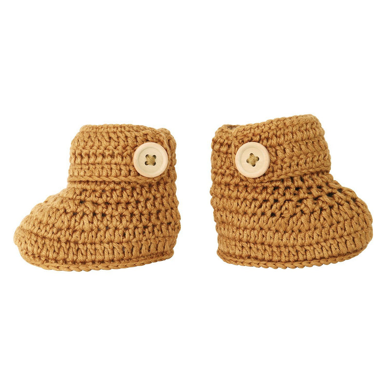 Cinnamon | Crochet Bonnet & Bootie Set | Handmade | OB Designs Decor Range O.B. Designs Baby Toys - Plush Toys - Crochet Blankets Ethically Made