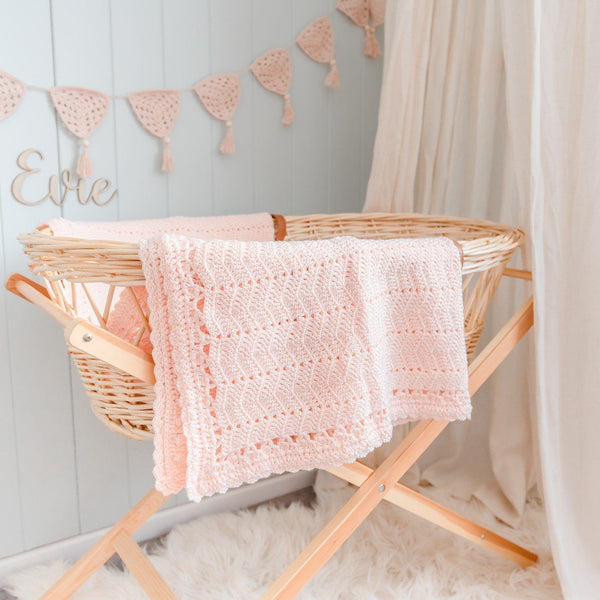 Peach | Crochet Baby Blanket | Handmade | OB Designs Decor Range O.B. Designs