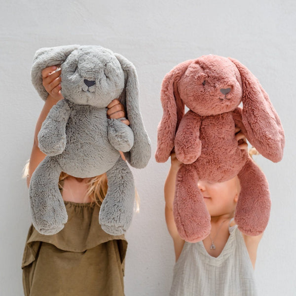 Stuffed Animals | Soft Plush Toys Australia | Grey Bunny - Bodhi Bunny Huggie Big Hugs Plush O.B. Designs