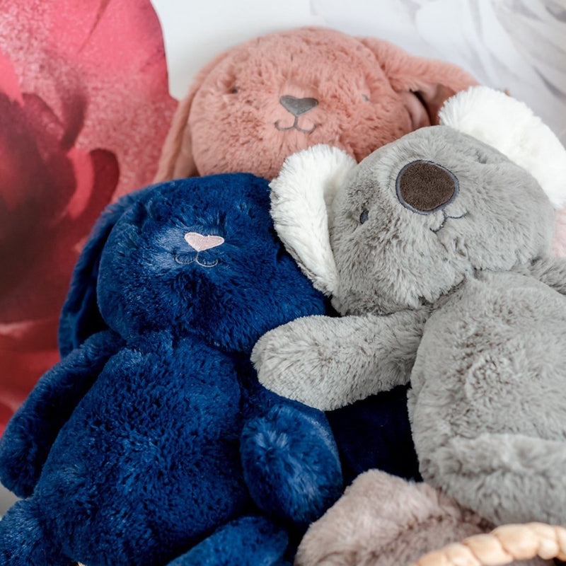 Stuffed Animals | Soft Plush Toys Australia | Navy Blue Bunny - Bobby Bunny Huggie Big Hugs Plush O.B. Designs