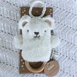 Byron Bear (White) Dingaring - O.B. Designs