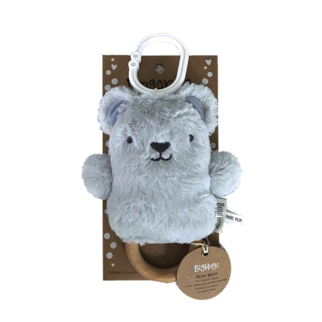 Beau Bear (Blue) Dingaring - O.B. Designs