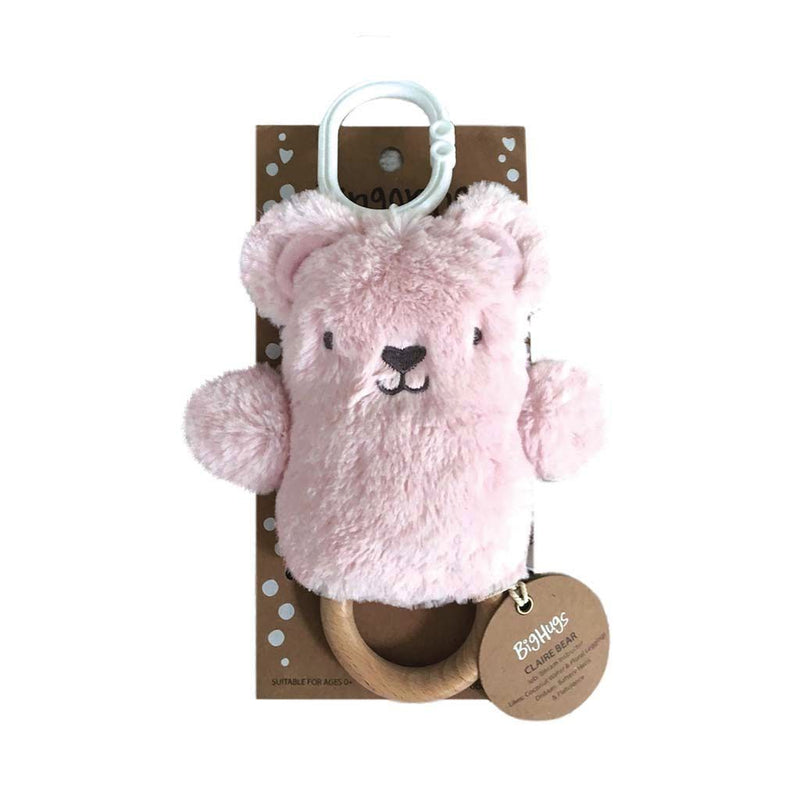 Claire Bear (Pink) Dingaring Dingaring Teething Rattle O.B. Designs