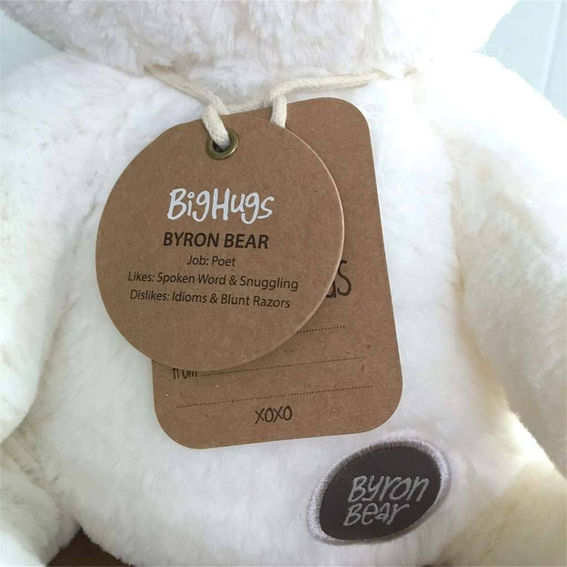 Byron Bear (White) Huggie Big Hugs Plush O.B. Designs