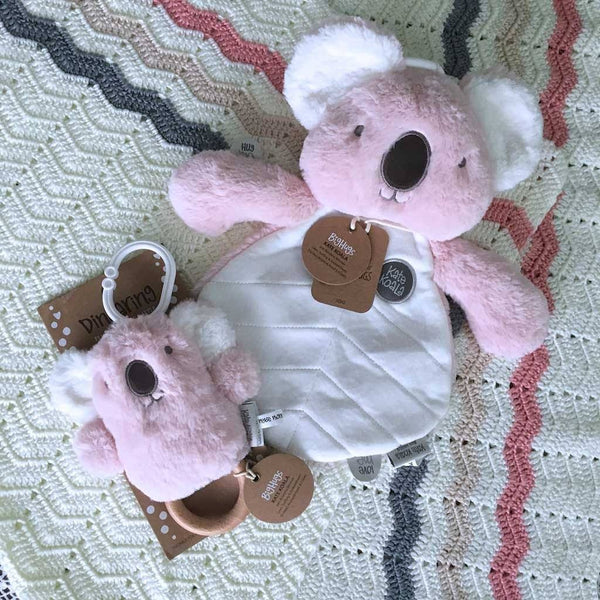 Pink Koala Baby Gift Set Big Hugs Plush O.B. Designs