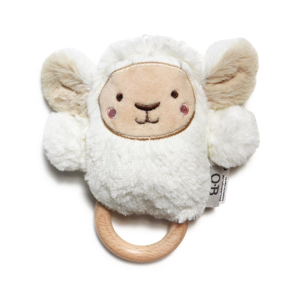 Wooden Teether | Baby Toys | Lee Lamb Dingaring Teething Rattle O.B. Designs