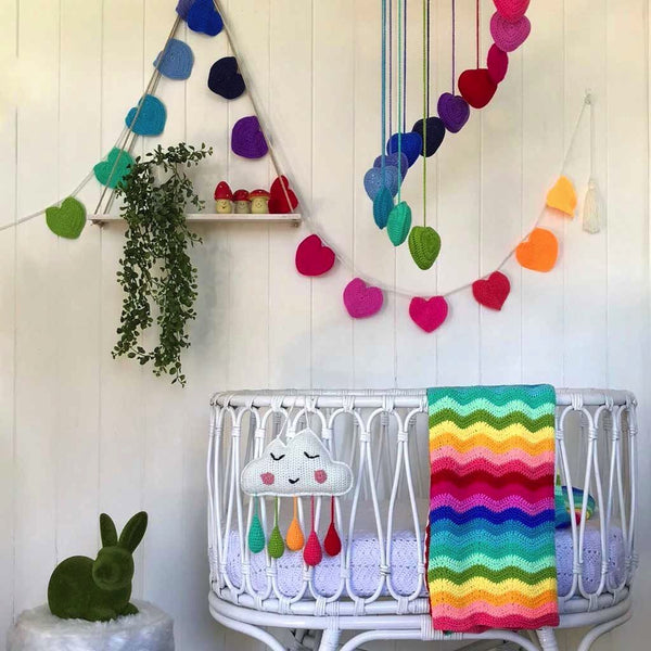 Rainbow Cloud Wall Hanging Decor Range O.B. Designs
