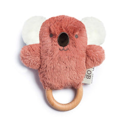 wooden teether - baby plush toys australia - ob designs