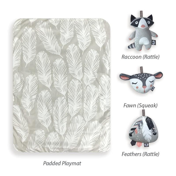 Feathers Playmat & Toy Gift Bundle - O.B. Designs