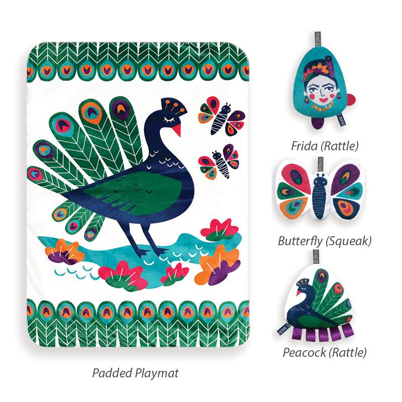 PEACOCK PARADISE PLAYMAT & TOY SET - O.B. Designs