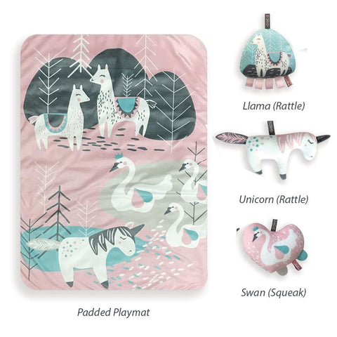 FEATHERS & FOREST PLAYMAT & TOY SET