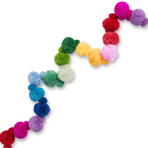 Rainbow Pom Pom Garland (Retired)