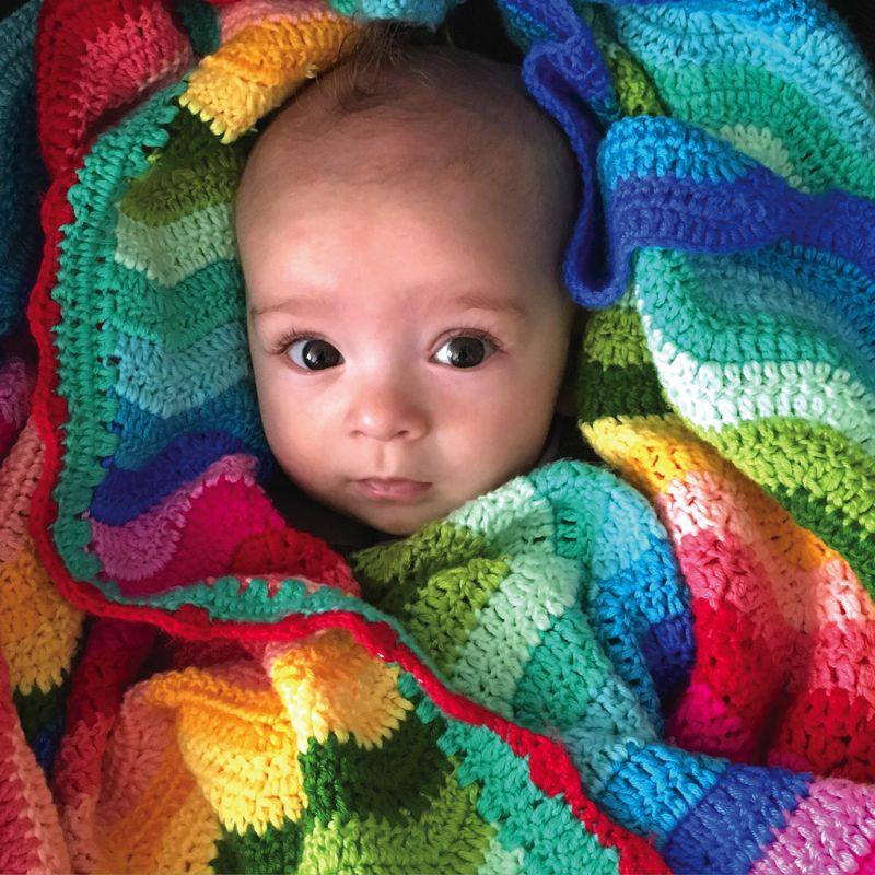 Hand Crochet Rainbow Baby Blanket Decor Range O.B. Designs