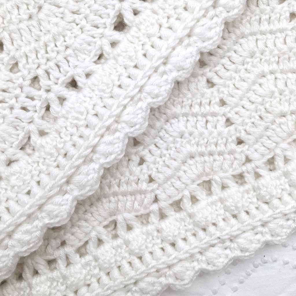 Ripple Blanket White - O.B. Designs