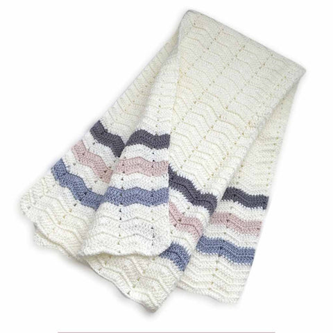 Ripple Blanket Stripe Blue