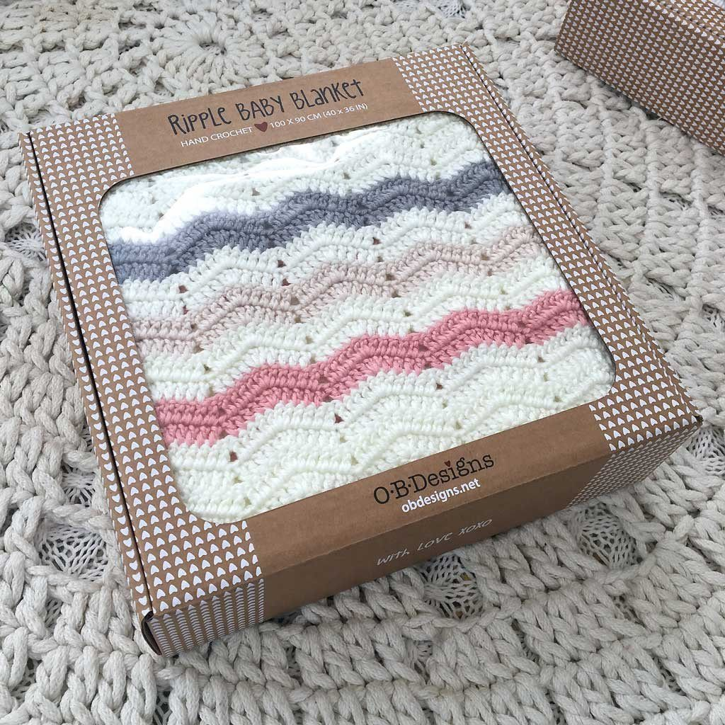Ripple Blanket Stripe Pink