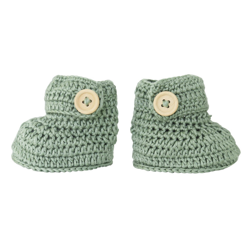 Sage | Crochet Bonnet & Bootie Set | Handmade | OB Designs Decor Range O.B. Designs Baby Toys - Plush Toys - Crochet Blankets Ethically Made