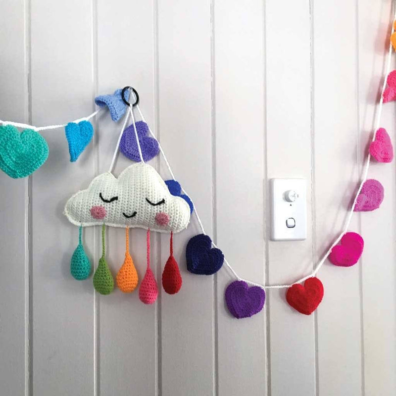 Rainbow Heart Crochet Bunting Decor Range O.B. Designs