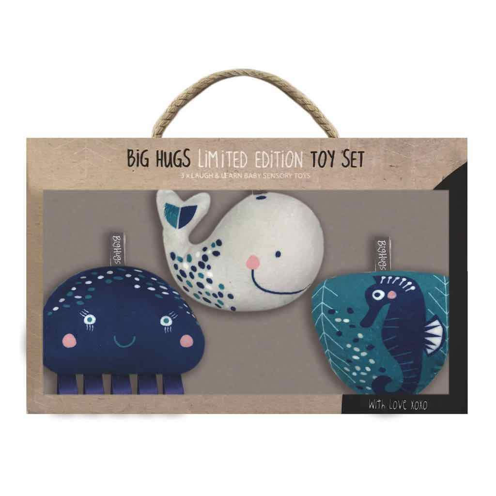 WHALE OF A TIME 3 PIECE TOY SET - O.B. Designs