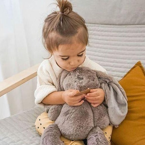 Stuffed Animals | Soft Plush Toys Australia | Earth Taupe Bunny - Byron Bunny Huggie Big Hugs Plush O.B. Designs