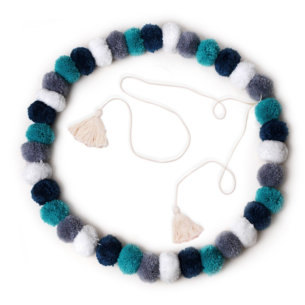 more on Pom Pom Garland Confetti Blue