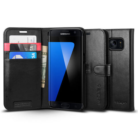 Samsung Galaxy S7 Edge Case, Spigen Wallet S (Black)