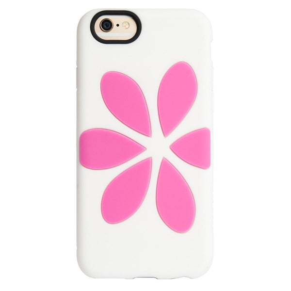 cheap for discount 362c0 ab459 Flower Vest Case for Apple iPhone 6/6S - White / Pink