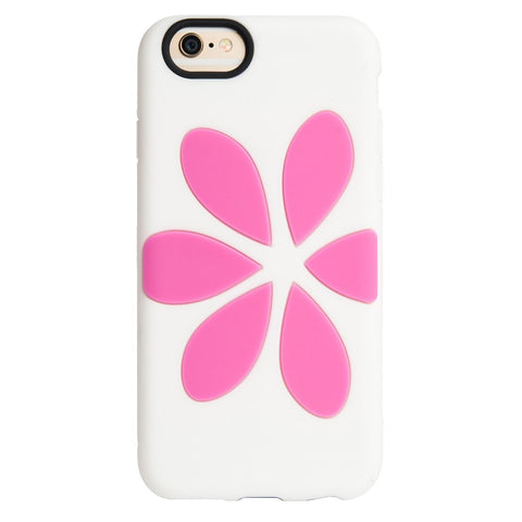 Flower Vest Case for Apple iPhone 6/6S - White / Pink
