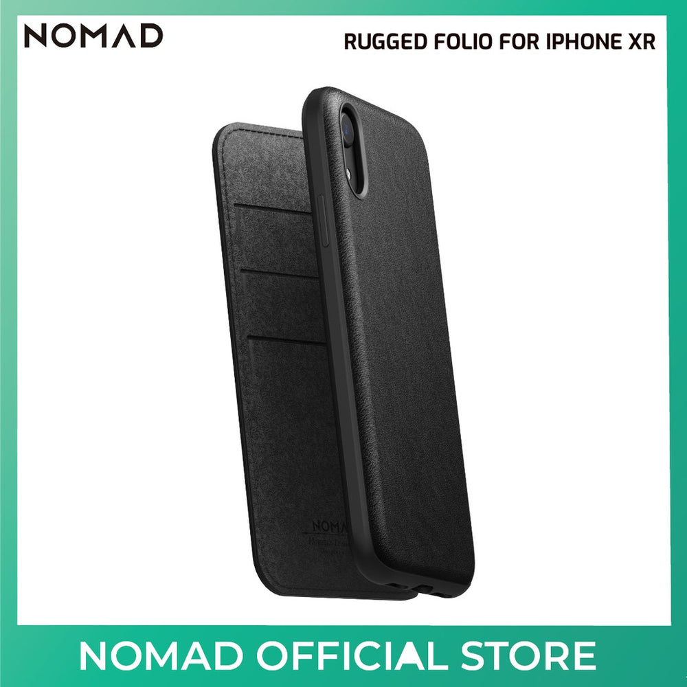 Nomad Rugged Folio (Leather) Case for Apple iPhone XR