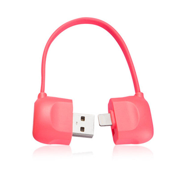 Lightning Cable (Sync & Charge) - 10cm Pink - ICONS