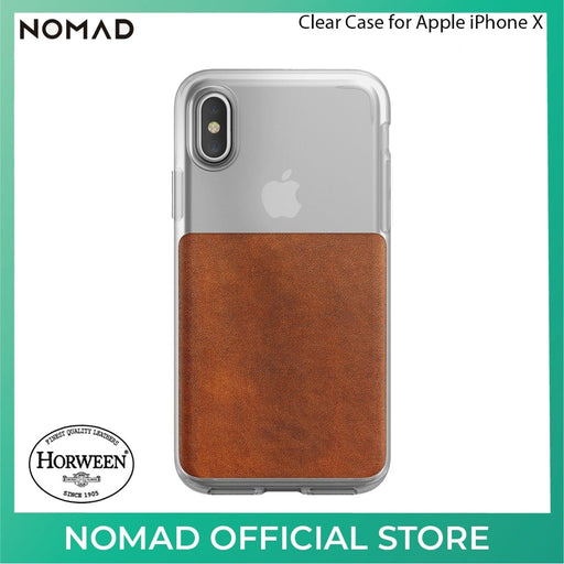 Nomad Clear Back Case - (6Ft Drop Tested)  for Apple iPhone XS / X