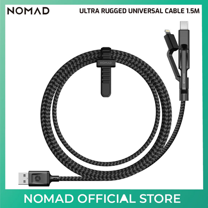 Nomad Ultra Rugged Universal Cable for Apple iPad & iPhone - Black -  1.5M | 5FT