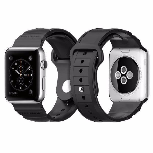 Spigen Rugged Band for Apple Watch Band 42MM - Black - ICONS