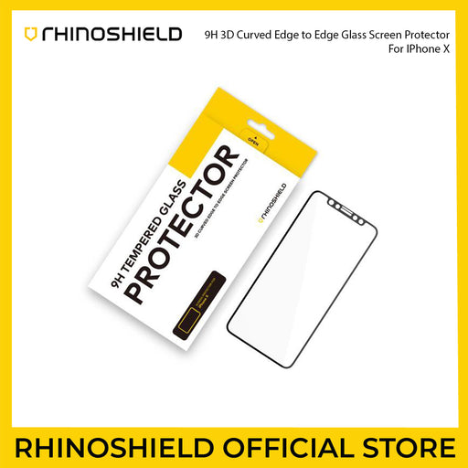 RhinoShield 9H 3D Curved Edge To Edge Glass Screen Protector for Apple iPhone X - ICONS