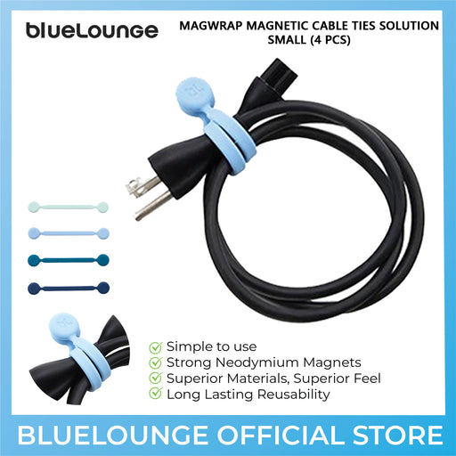 BlueLounge MagWrap Magnetic Cable Ties Solution