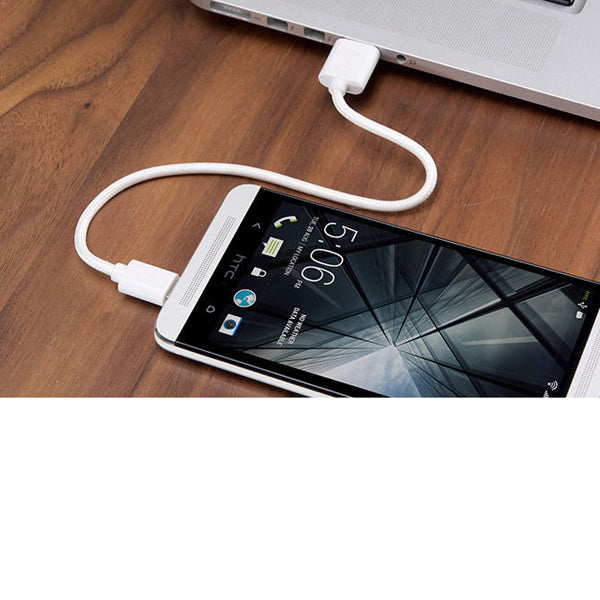 Mirco USB Cable for Android Devices - White - ICONS