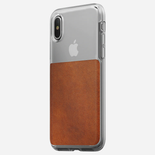 Nomad Clear Back Case - (6Ft Drop Tested)  for Apple iPhone XS / X - ICONS