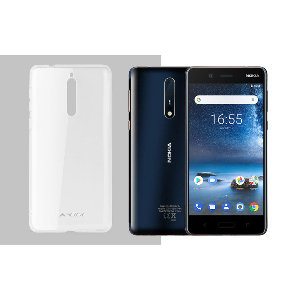 Clear Slim Case for Nokia 8 - ICONS