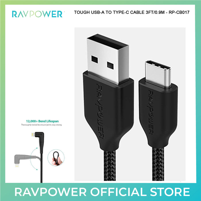 RAVPower Kevlar Braided USB-A TO TYPE-C Cable (RP-CB017)