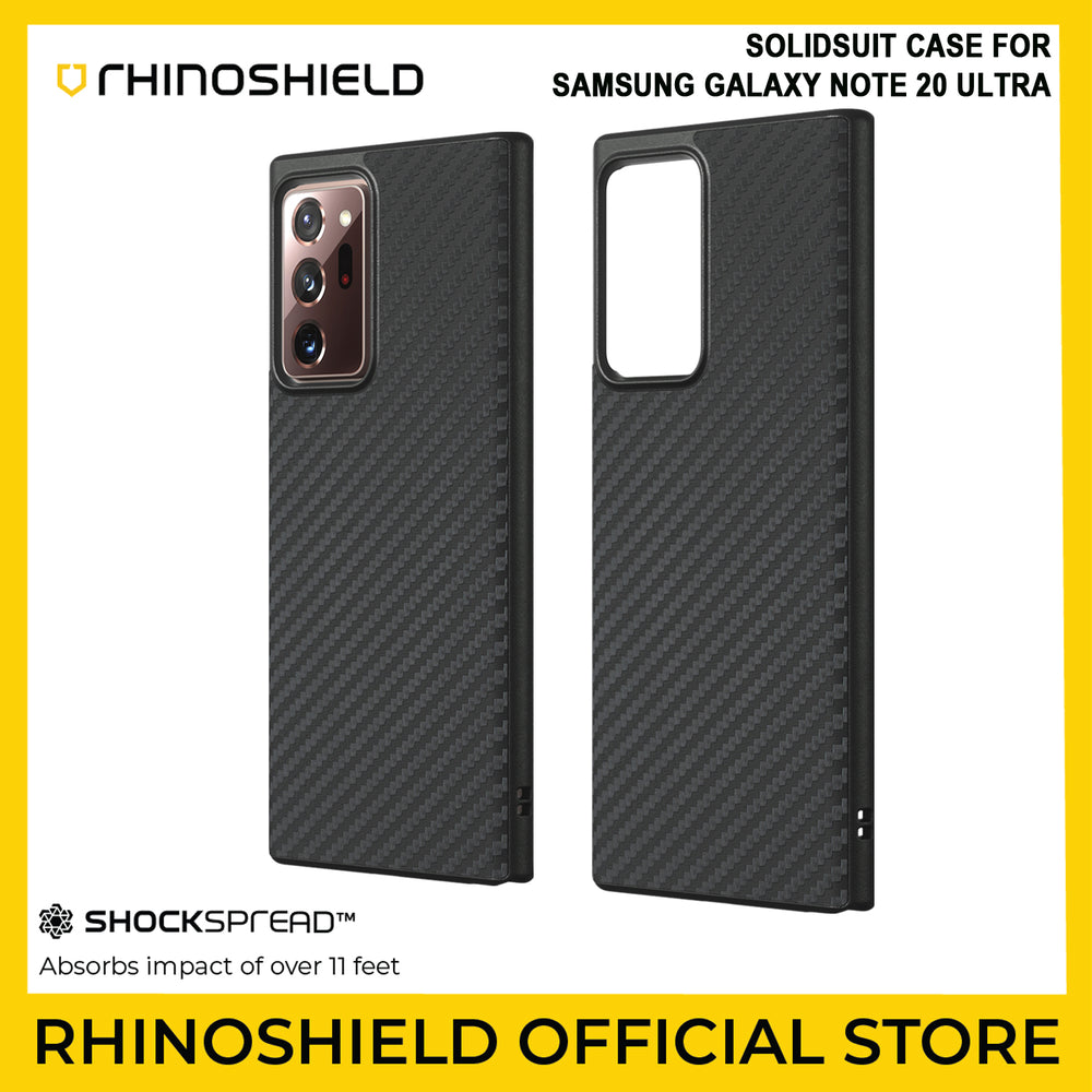 RhinoShield SolidSuit Case for Samsung Galaxy Note 20 Ultra (Carbon Fiber)