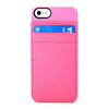Hybrid Snap Case + Attachable Leather CC Holder for iPhone 5/5S