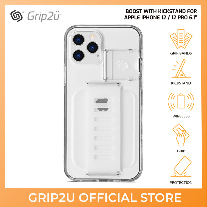 Grip2U Boost with Kickstand Case for Apple iPhone 12 / 12 Pro 6.1""