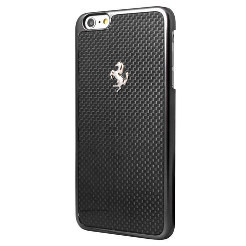 Full Carbon Hard Case for iPhone 6 - Metal Logo Black