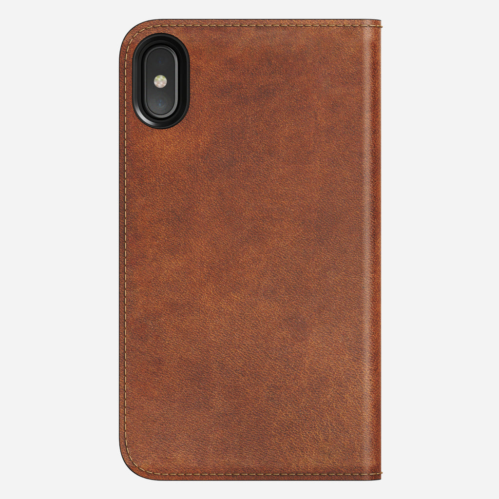 Leather Folio Case for Apple iPhone X