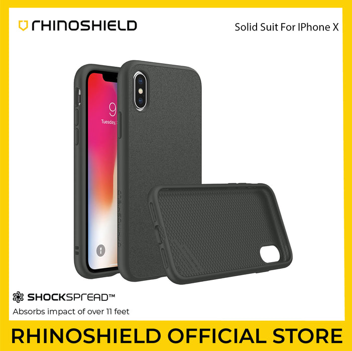RhinoShield SolidSuit Case for Apple iPhone X - ICONS
