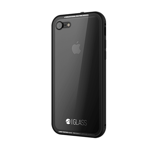 GLASS 01 Case for Apple iPhone 7 Jet Black - ICONS